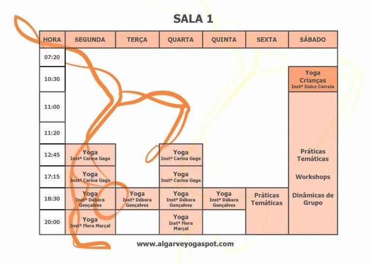 Horário Sala 1 - Algarve Yôga Spot